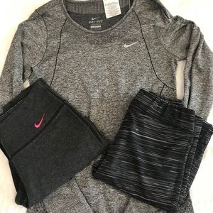 Size small athletic wear outfit /bundle of clothes